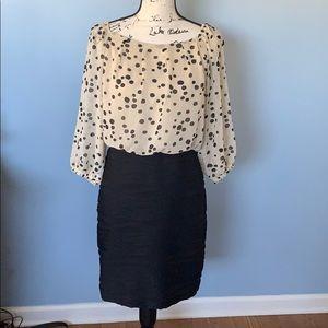 GABBY SKYE size 8 black & tan one piece dress